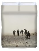 U.s. Army Captain Provides Security Duvet Cover