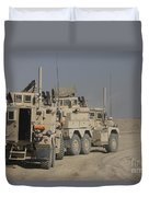 U.s. Army Cougar Mrap Vehicles Duvet Cover