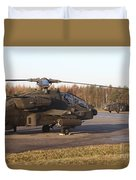 U.s. Army Helicopters At The Letzlingen Duvet Cover
