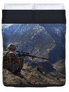 U.s. Army Sniper Provides Security Duvet Cover