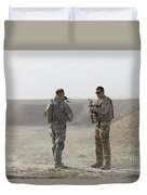 U.s. Army Soldier And German Soldier Duvet Cover