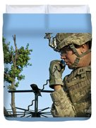 U.s. Army Soldier Calls For Indirect Duvet Cover