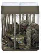U.s. Army Soldier Communicates Possible Duvet Cover