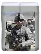 U.s. Army Soldier Conducts A Combat Duvet Cover