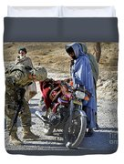 U.s. Army Soldier Conducts Vehicle Duvet Cover