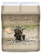 U.s. Army Soldier Fires Duvet Cover