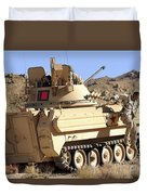 U.s. Army Soldier Jumps Off An M113 Duvet Cover