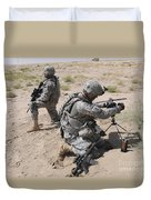 U.s. Army Soldier Sets Up A Satellite Duvet Cover
