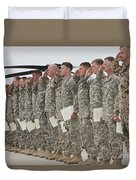 U.s. Army Soldiers And Recipients Duvet Cover