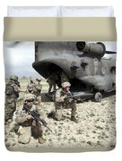 U.s. Army Soldiers Board A Ch-47 Duvet Cover