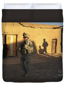 U.s. Army Soldiers Conduct A Dismounted Duvet Cover