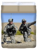 U.s. Army Soldiers Familiarize Duvet Cover by Stocktrek Images