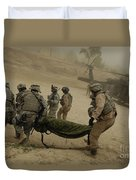 U.s. Army Soldiers Medically Evacuate Duvet Cover
