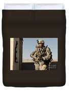 U.s. Army Soldiers Search A Site Duvet Cover