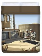 U.s. Army Soldiers Take Accountability Duvet Cover