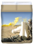 U.s. Army Specialist Calls In For An Duvet Cover