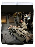 U.s. Army Specialist Practices Giving Duvet Cover