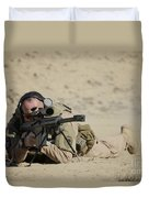 U.s. Contractor Sights In A Barrett Duvet Cover