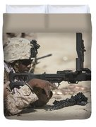 U.s. Marine Clears The Feed Tray Duvet Cover