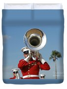 U.s. Marine Corps Drum And Bugle Corps Duvet Cover