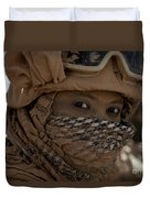 U.s. Marine Covered In Dirt Duvet Cover