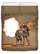 U.s. Marine Fires A Rpg-7 Grenade Duvet Cover