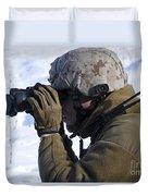U.s. Marine Looks Duvet Cover