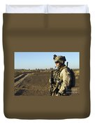 U.s. Marine Posts Security Duvet Cover