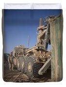 U.s. Marine Uses A Logistics Vehicle Duvet Cover