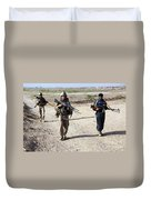 U.s. Marines And Afghan National Police Duvet Cover
