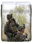 U.s. Marines Communicate Duvet Cover