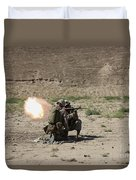 U.s. Marines Fire A Rocket-propelled Duvet Cover