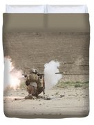 U.s. Marines Fire A Rpg-7 Grenade Duvet Cover