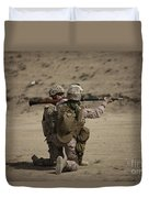 U.s. Marines Load A Fragmentation Round Duvet Cover