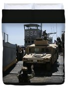 U.s. Marines Load An M1114 Humvee Onto Duvet Cover