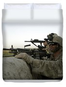 U.s. Marines Observe The Movement Duvet Cover by Stocktrek Images