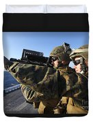 U.s. Marines Practice Firing Duvet Cover