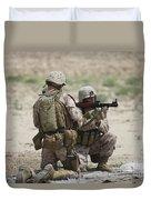 U.s. Marines Prepare A Fragmentation Duvet Cover