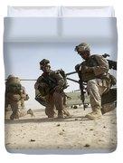 U.s. Marines Unloading Duvet Cover