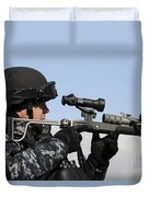 U.s. Navy Chief Uses An La9p Nonlethal Duvet Cover
