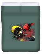 U.s. Navy Diver Is Lowered Duvet Cover by Stocktrek Images