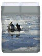 U.s. Navy Diver Signals He Is Okay Duvet Cover