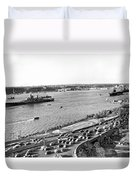 U.s. Navy In The Hudson River Duvet Cover