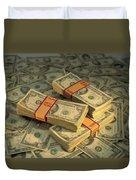 U.s. Paper Money Duvet Cover