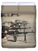 U.s. Soldiers Firing Pk 7.62 Mm Duvet Cover