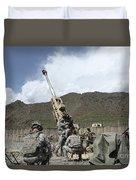 U.s. Soldiers Prepare To Fire Duvet Cover