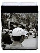 Usa And Hanoi Duvet Cover