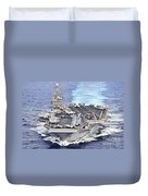 Uss Abraham Lincoln Transits Duvet Cover