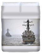 Uss Porter And Uss Nitze Participate Duvet Cover