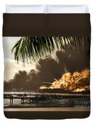 U S S Shaw Pearl Harbor December 7 1941 Duvet Cover